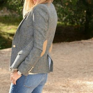 Zara basics elbow patch blazer